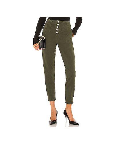 Хлопковые брюки с карманами милитари на пуговицах Veronica Beard