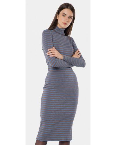 Платье осеннее серое Mr520