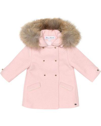 Пальто розовое шерстяное Tartine Et Chocolat