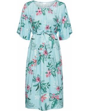 Платье с поясом кимоно на резинке Bonprix