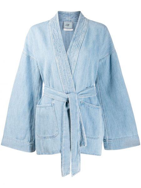 Синяя джинсовая куртка Forte Forte