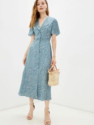 Прямое платье - голубое Moru