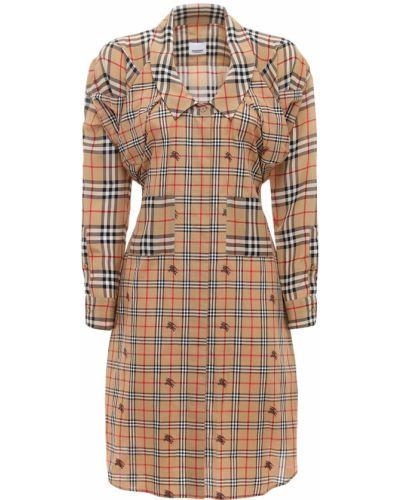 Платье макси с длинными рукавами - бежевое Burberry