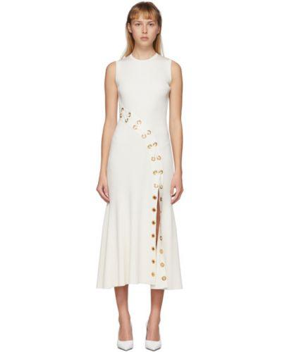 Платье макси на шнуровке вязаное Alexander Mcqueen