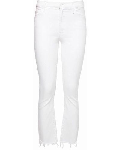 Белые джинсы на молнии Mother