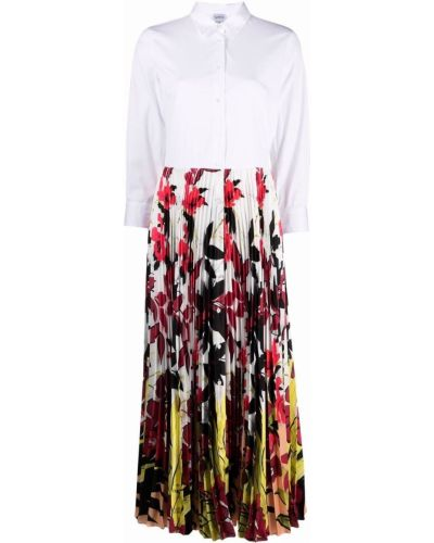 Прямое белое платье-рубашка с воротником Sara Roka