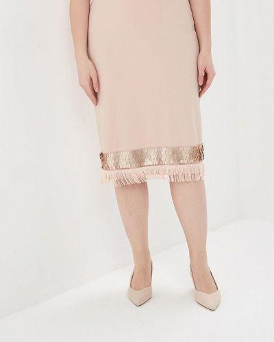 Розовая юбка карандаш с рукавом 3/4 Kitana By Rinascimento