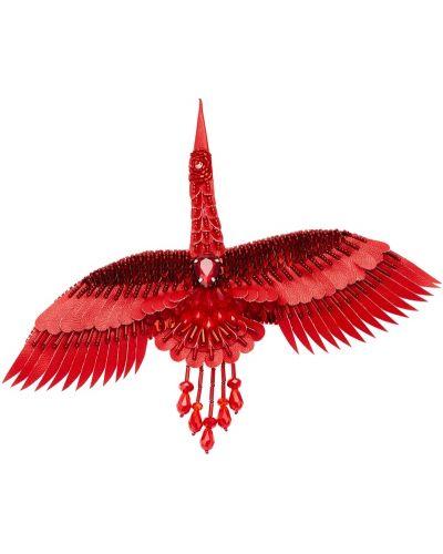 Кожаная красная брошь с пайетками Lesyanebo