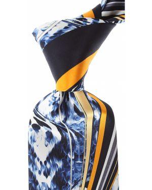 Żółty krawat z jedwabiu Pancaldi