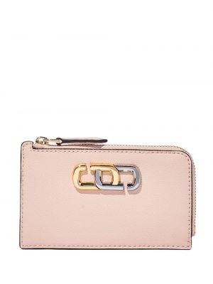 Кожаный кошелек - розовый Marc Jacobs
