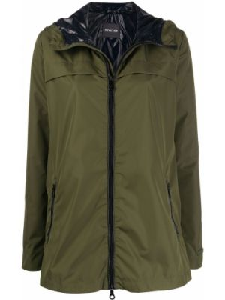 Облегченная куртка с капюшоном мятная Duvetica