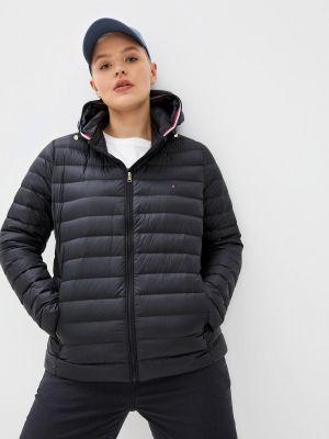Черная демисезонная куртка Tommy Hilfiger