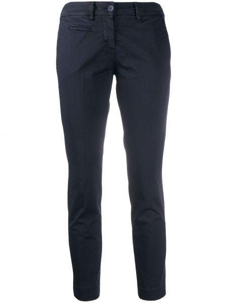 Укороченные брюки с воротником с поясом узкого кроя Peuterey
