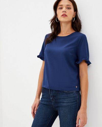 Блузка с коротким рукавом синяя итальянский Blugirl Folies
