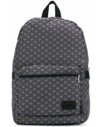Czarny plecak skórzany Emporio Armani Kids