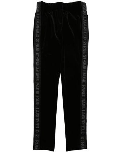 Бархатные брюки на резинке на резинке Karl Lagerfeld