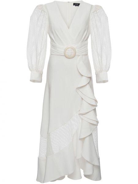 Шелковое платье с V-образным вырезом с оборками на молнии Patbo