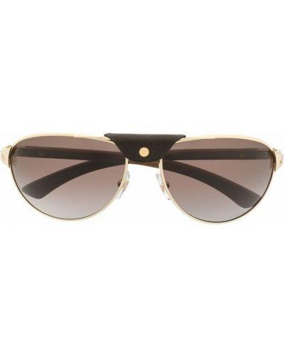 Brązowe okulary Cartier