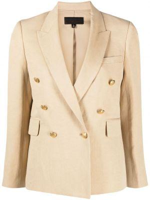 Льняной пиджак двубортный с карманами Nili Lotan