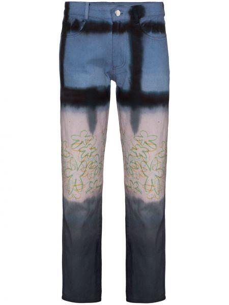 Bawełna prosto bawełna jeansy do kostek z kieszeniami Collina Strada