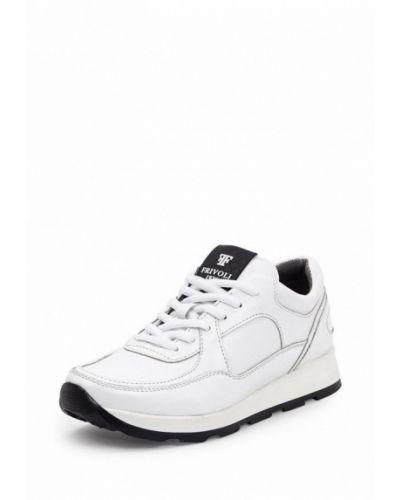 Белые кроссовки на платформе Frivoli