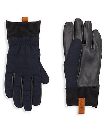 Prążkowane rękawiczki skorzane Ugg