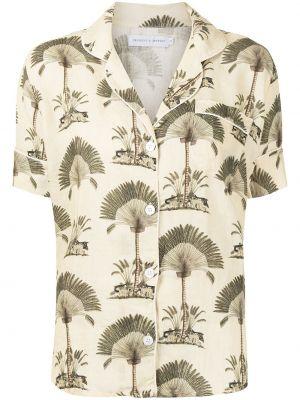 Lniana piżama - żółta Desmond & Dempsey