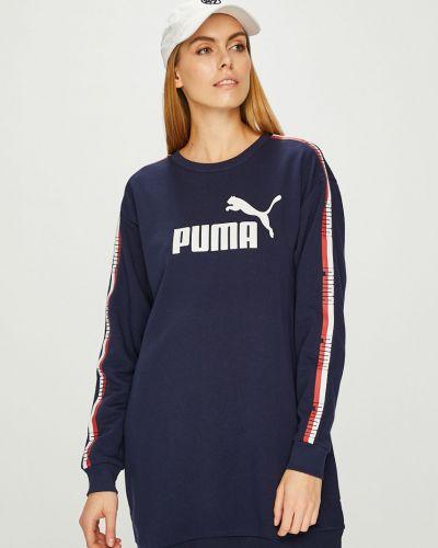 Темно-синее свободное платье мини свободного кроя Puma