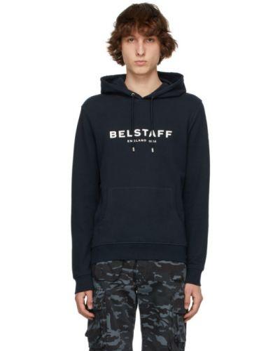 Biała bluza długa z kapturem z długimi rękawami Belstaff
