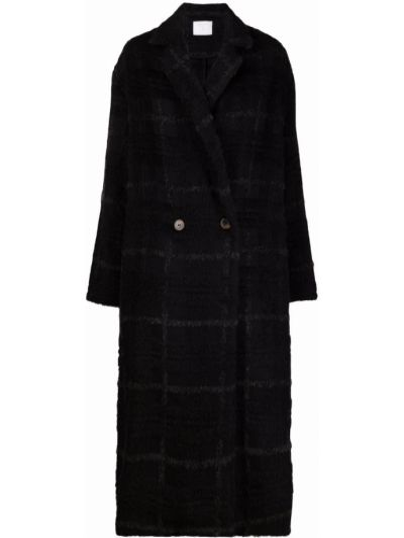 Черное пальто из альпаки Société Anonyme