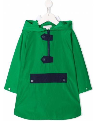 Płaszcz przeciwdeszczowy - zielony Stella Mccartney Kids