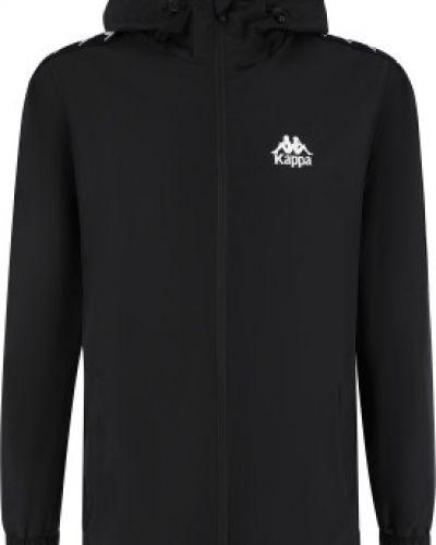 Черная куртка с капюшоном на молнии Kappa