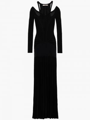 Шерстяное платье макси - черное Roberto Cavalli