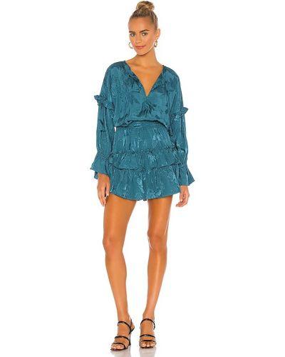Сатиновое платье с декольте Misa Los Angeles