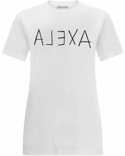 Biały t-shirt Alexachung