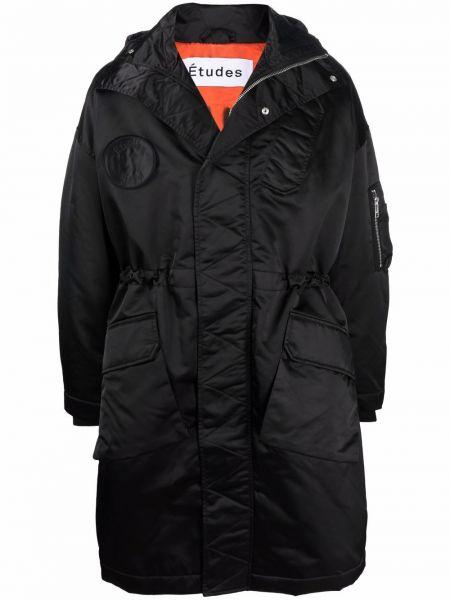 Czarny klasyczny płaszcz Etudes