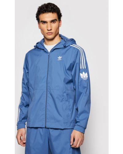 Wiatrówka - niebieska Adidas