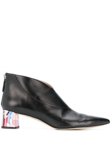 Czarny buty po kostki Emilio Pucci