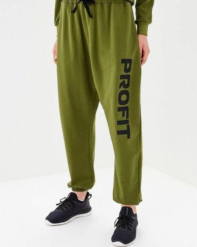 Спортивные брюки зеленый хаки Profit