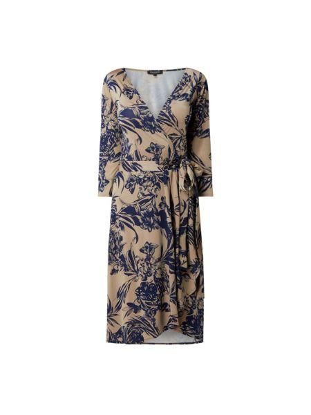 Sukienka rozkloszowana - beżowa Ilse Jacobsen