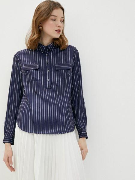 Синяя блузка с длинным рукавом Lusio