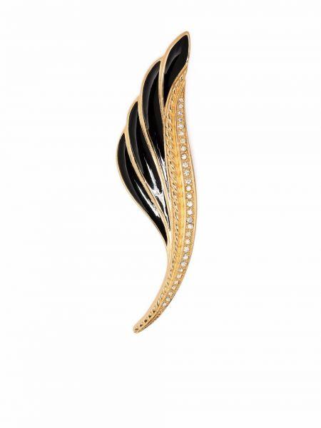 Złota broszka - czarna Christian Dior
