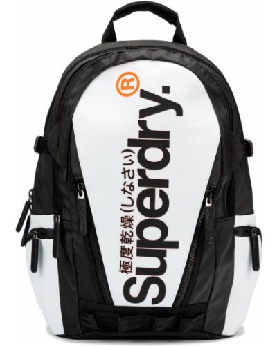Biały plecak materiałowy Superdry