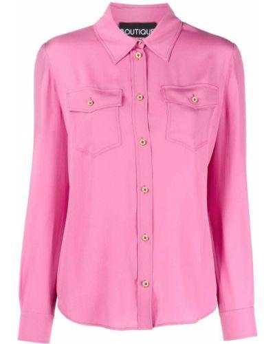 Bluzka z jedwabiu - różowa Boutique Moschino