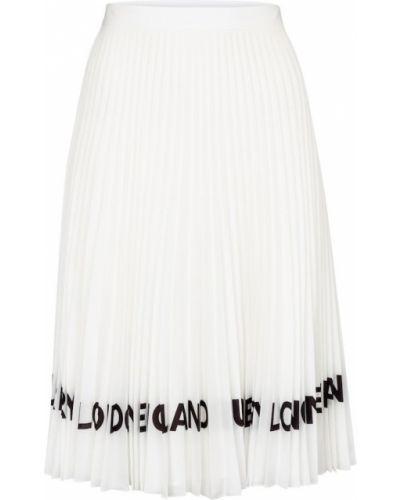 Гармошкой белая плиссированная юбка миди Burberry