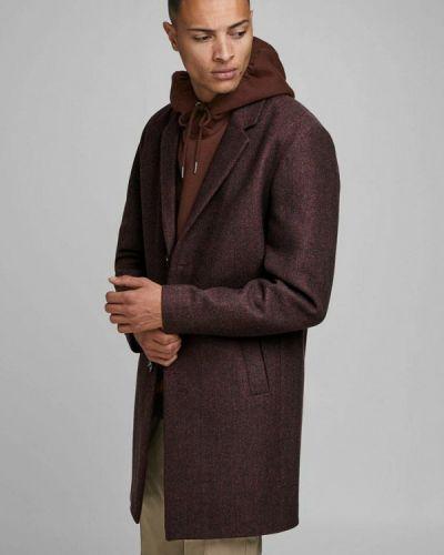 Коричневое пальто Jack & Jones