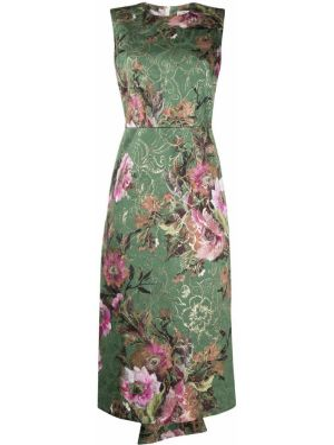 Платье в цветочный принт - зеленое Comme Des Garçons