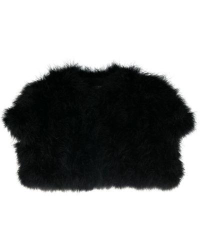 Черный пиджак из полиэстера Yves Salomon