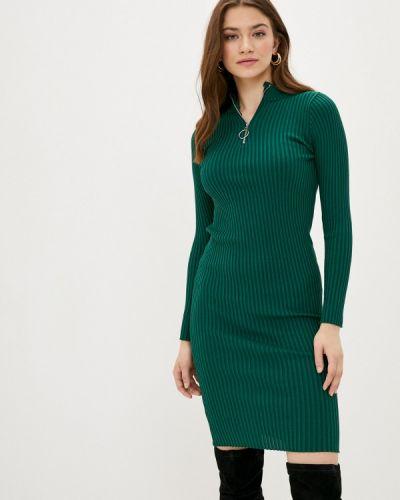 Ватное хлопковое зеленое вязаное платье Fresh Cotton