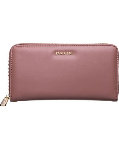 Фиолетовый кожаный кошелек Puccini